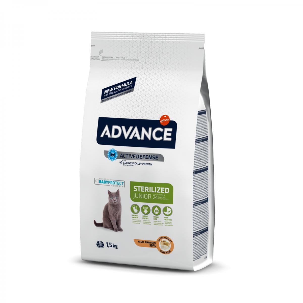 Hrana pentru pisicute sterilizate  - Advance Cat Junior Sterilized 1.5kg