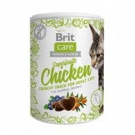 Recompensa Brit Care Cat Snack Superfruits cu Pui, 100 g