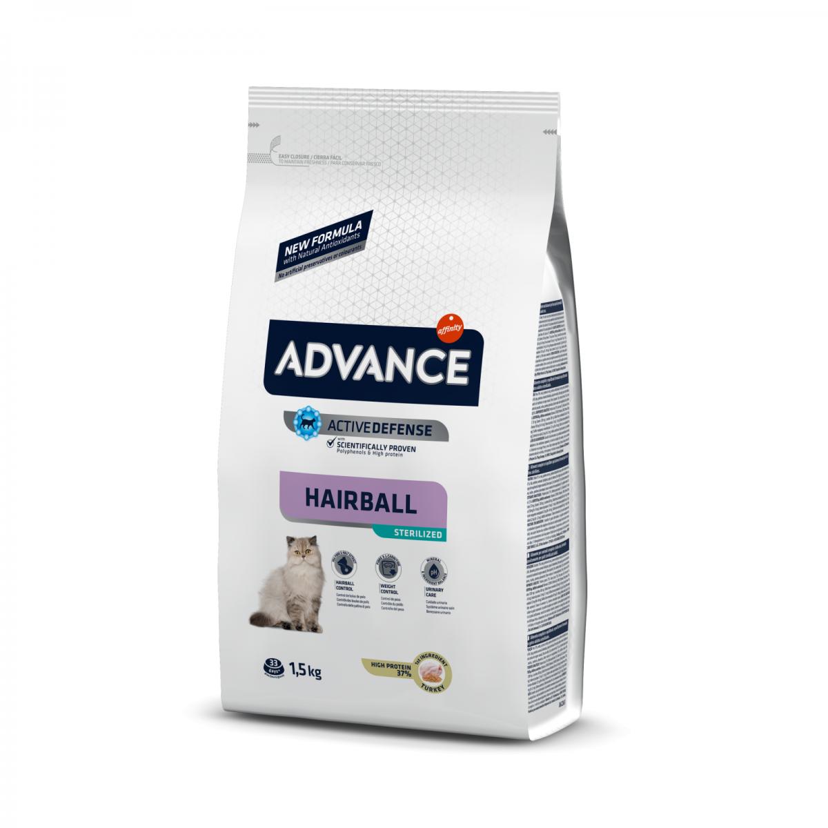 Hrana pentru pisici - Advance Cat Steril Hairball 1.5kg
