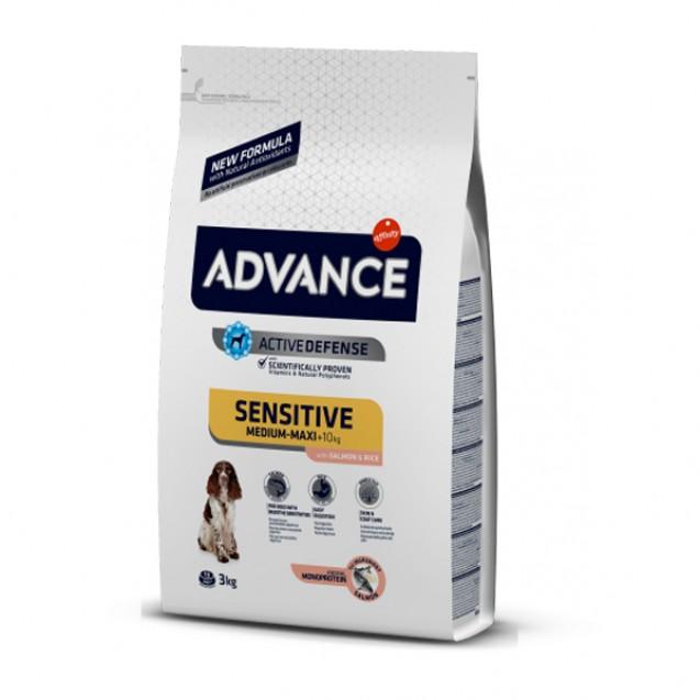 Hrana pentru caini cu sensibilitate digestiva - Advance Sensitive medium/maxi