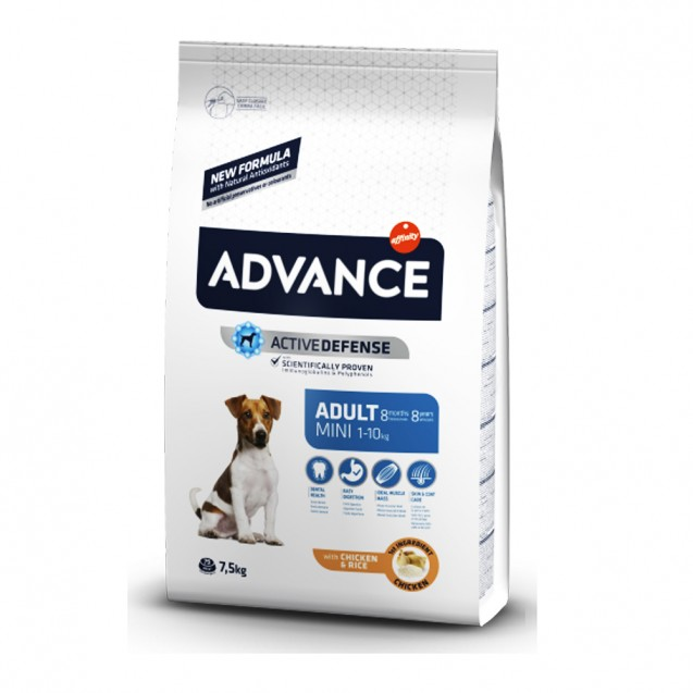 Hrana pentru caini adulti de talie mica - Advance Dog Mini Adult 7.5kg