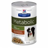 Hills PD Canine Metabolic cu Pui si Legume conserva 354g