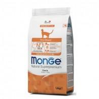 Monge Natural Cat Monoprotein Sterilised cu rață la 1.5 kg