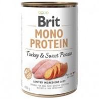 Hrană umedă BRIT monoproteică pentru câini, cu Curcan si cartofi dulci 400g