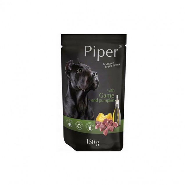 Hrană umedă câini adulți, Piper, cu Vânat și Dovleac