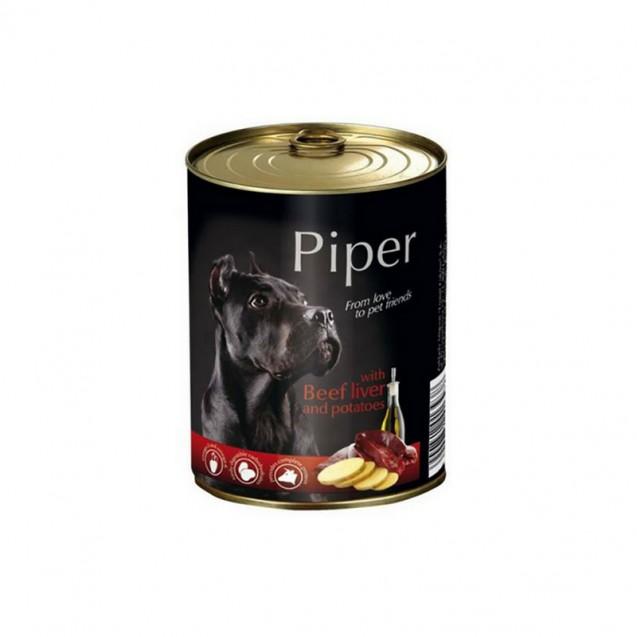 Hrană umedă câini adulți, Piper, cu Ficat de Vita si Cartofi
