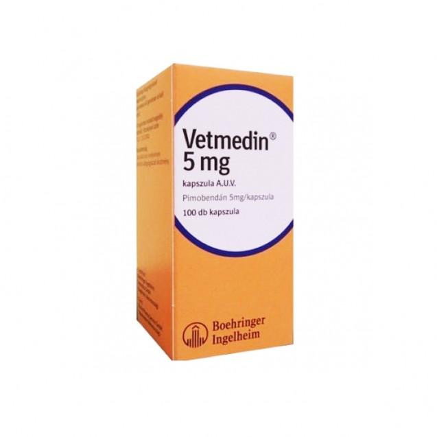 Vetmedin pentru caini 5 mg 100 capsule