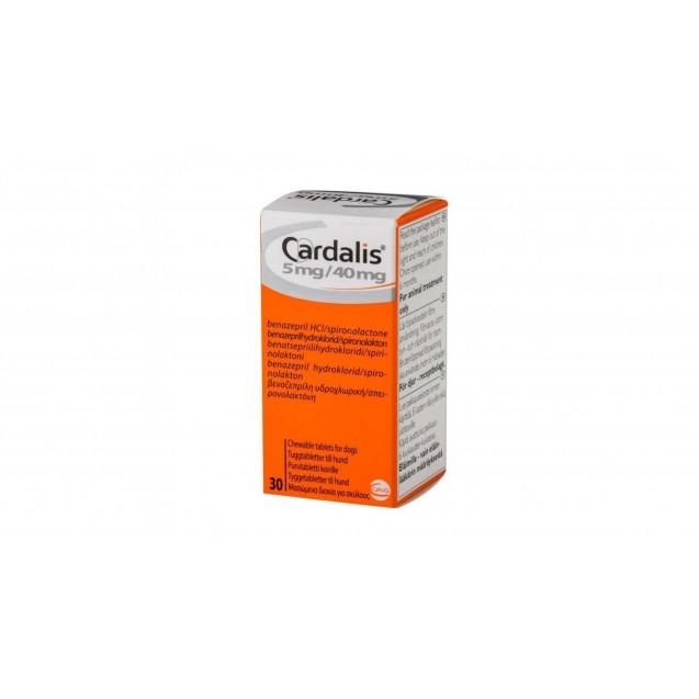 CARDALIS pentru caini 5 mg / 40 mg 30 tablete