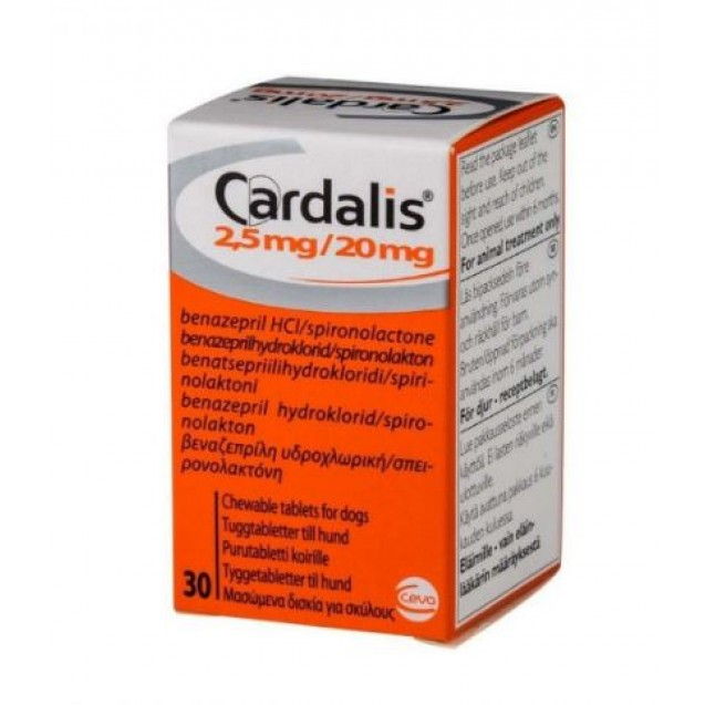 CARDALIS S pentru caini - 2.5 mg / 20 mg 30 tablete