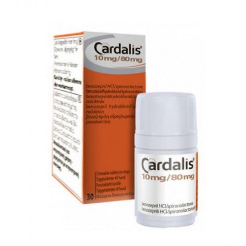 CARDALIS l pentru caini - 10 mg / 80 mg 30 tablete