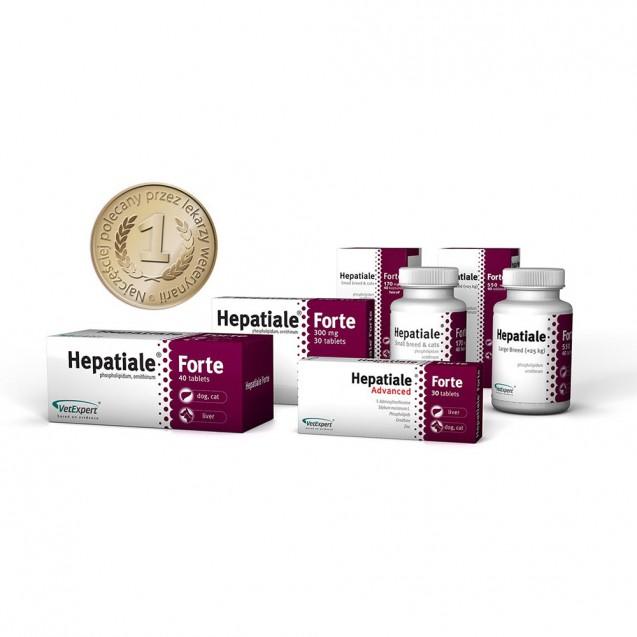 HEPATIALE pentru caini de talie mare 550mg - 40 tablete