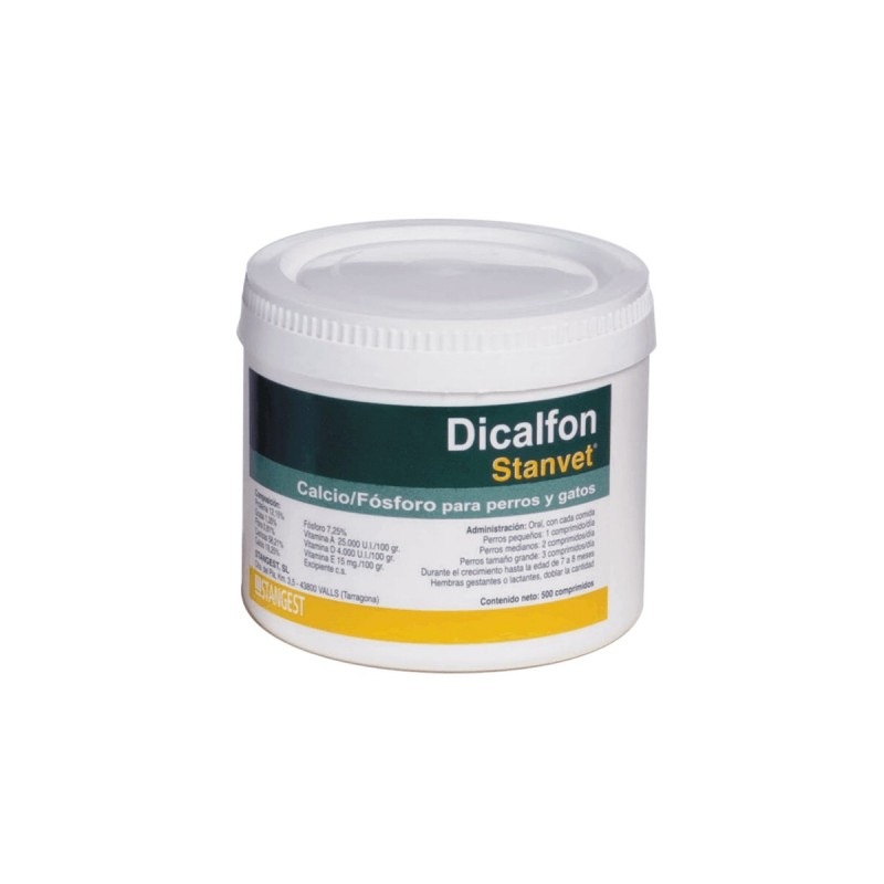 Dicalfon 500 tablete pentru caini si pisici