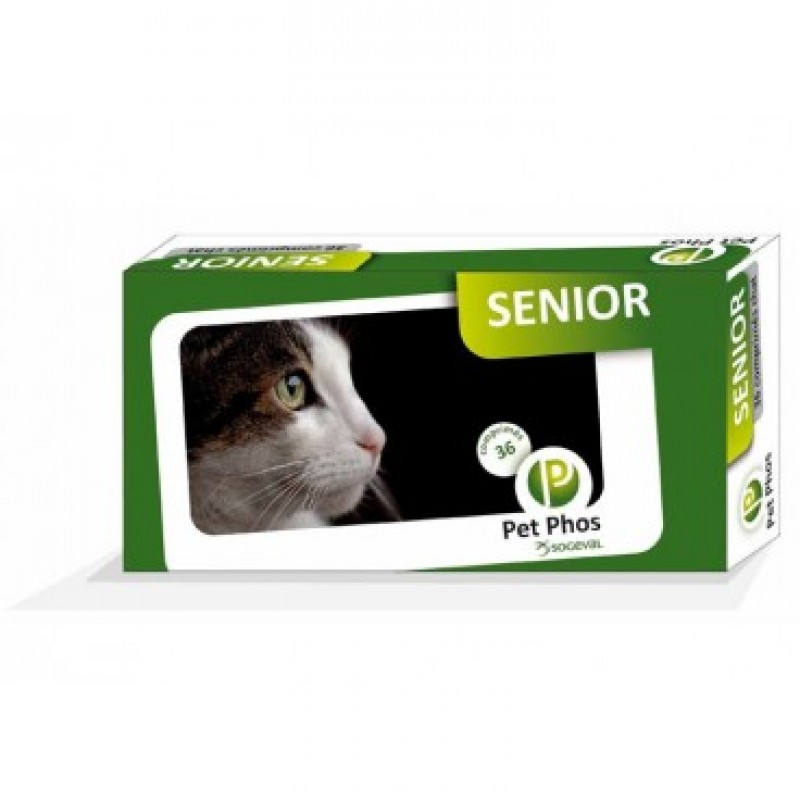 Supliment pentru pisici senior, Pet Phos Felin Senior 36 tablete