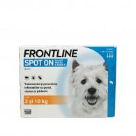 Frontline Spot-On pentru caini de talie mica 2-10kg, 1 pipeta