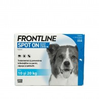 Frontline Spot-On pentru caini de talie medie 10-20kg, 1 pipeta